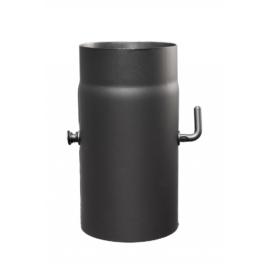 Füstcső 120mm x 250mm huzatszabályzóval (1,5mm)