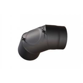 Füstcső könyök tisztító nyílással 130mm (1,5mm)