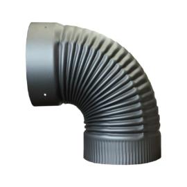 Füstcső könyök 120mm (0,55mm)