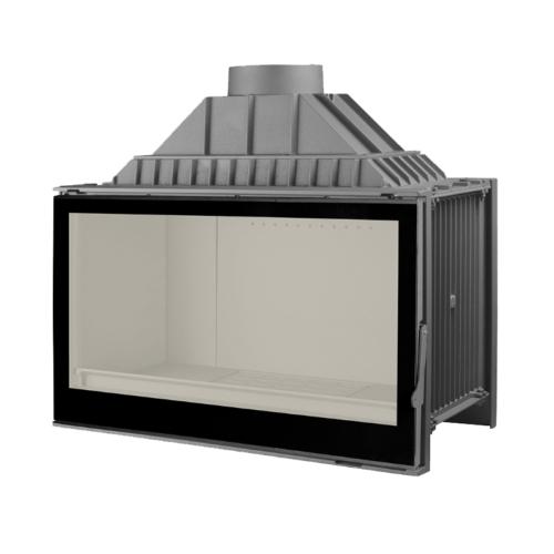 Liseo L9 black glass beépíthető kandallóbetét